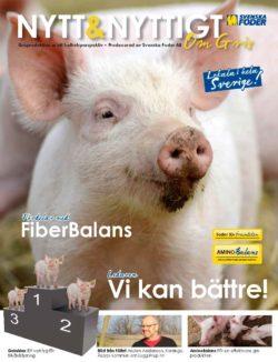 Bild på broschyren Nytt&Nyttigt om Gris 2017 som ges ut av Svenska Foder