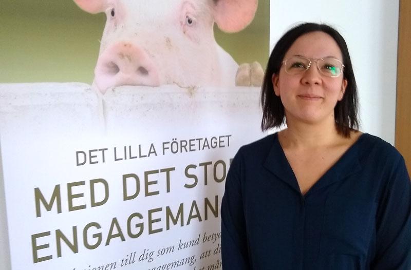 Bild på en av Svenska Foders grisfodersäljare