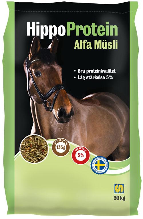 Bild på fodersäcken HippoProtein Alfa Müsli