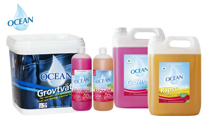Produktbilder på olika Ocean produkter