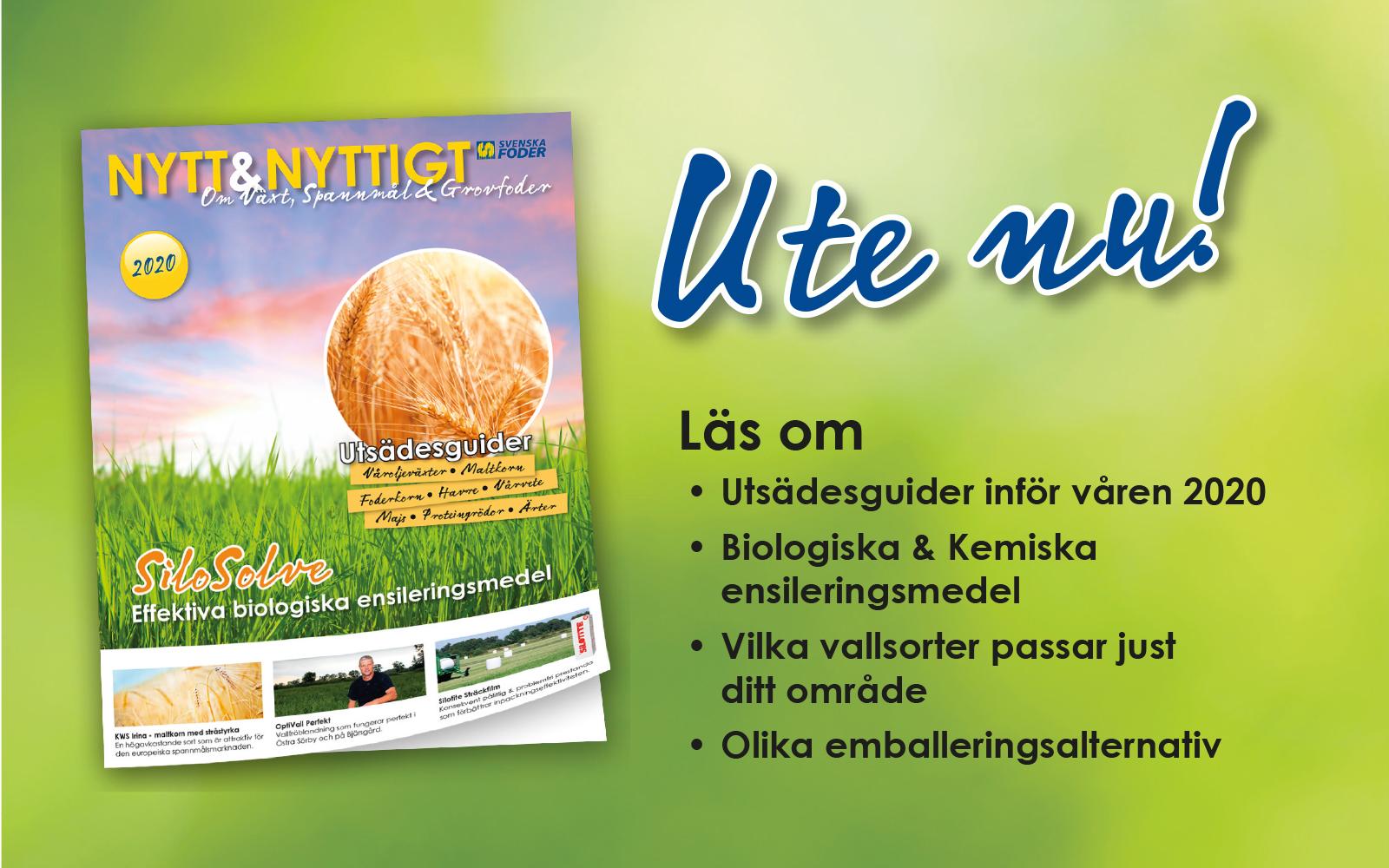 Banner Nytt & Nyttigt om Växt, Spannmål och Grovfoder