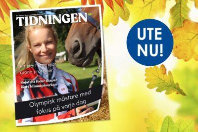 Malin Baryard-Johnsson pryder detta nummer av Svenska Foders Tidningen
